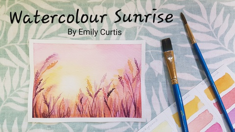 Easy Watercolour Sunrise - Step by Step