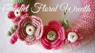 Crochet Floral Wreath