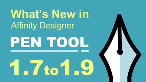 What's New in Affinity Designer 1.7 to 1.9 PEN TOOL