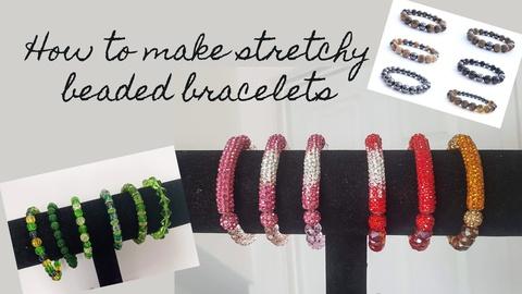 How to make stretchy beaded bracelets