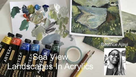 Seaview Landscape In Acrylics