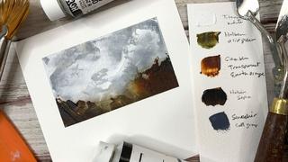 Oil & Cold Wax: Dreamy Little Landscapes