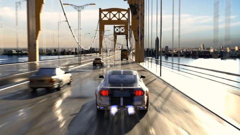 Make a Cinematic Car Chase Short Film Animation in Blender