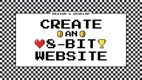 Hand-craft and 8-bit style website
