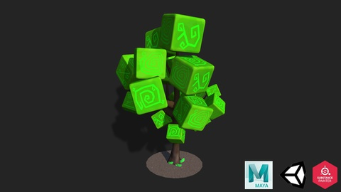 Maya & Unity 3D - Modeling Low Poly Tree for Mobile Games