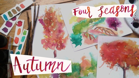 """""""Four Seasons:"""" Autumn Trees: Let your Colors Loose!"""