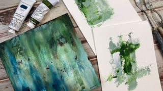Intro to Cold Wax and Oil Paint Abstracts