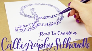 How to Create a Modern Calligraphy Silhouette