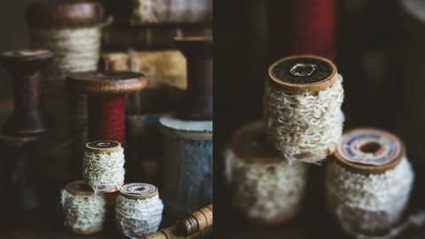 Still Life Photography: Vintage Ribbons Setup