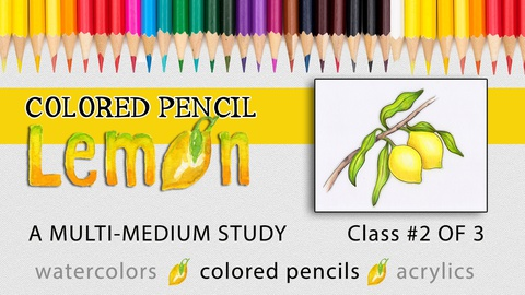 Colored Pencil Lemon: A Multi-Medium Study, Class 2 of 3