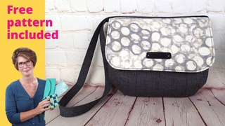 Sew an easy lined shoulder purse with magnetic snap