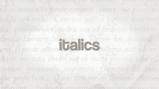 Italics Calligraphy Masterclass