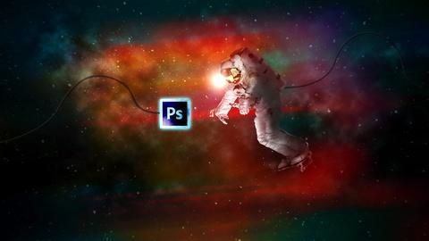 Space Explorer - Photo Composite Photo Manipulation Photoshop