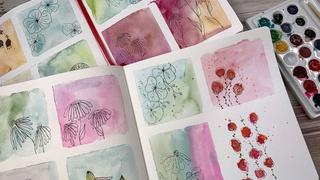 Watercolor & Ink Botanicals