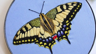 Realistic Thread Painting - Embroider a Butterfly