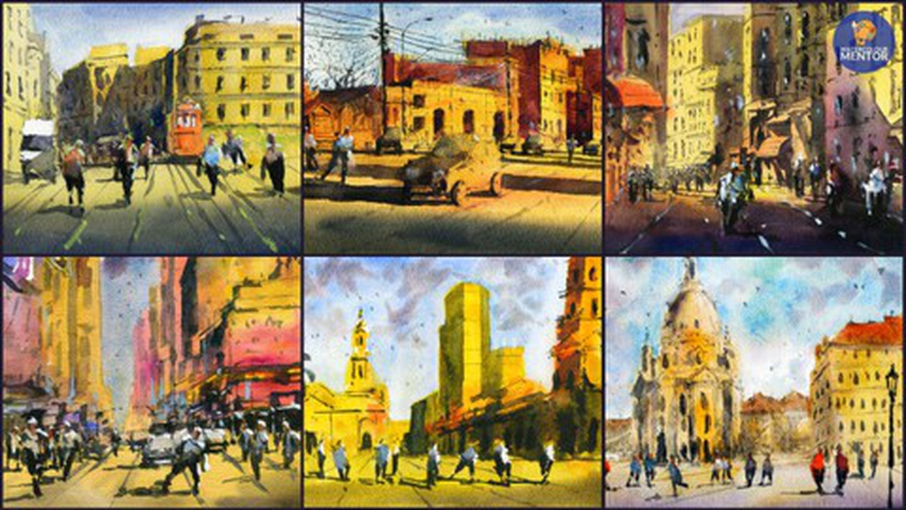 Light and Shadows in Watercolor: Paint 6 Different Scenes