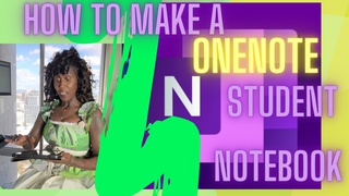 Beginner's OneNote Basics - How to Make a OneNote Student Notebook