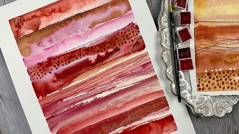 Watercolor Stripe Samplers - Being creative with watercolor and mark-making