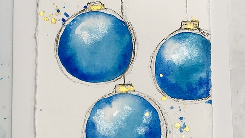 Loose & Sketchy Christmas Baubles