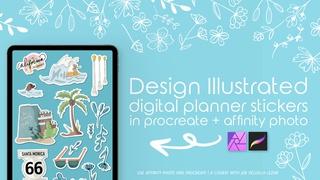 Design Illustrative Stickers in Procreate