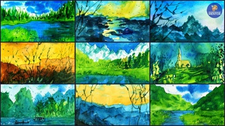Watercolor Mountains For Beginners