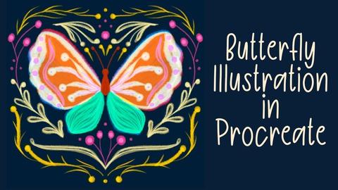Stylized Butterfly Illustration in Procreate | iPad art