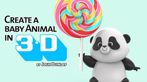 Create a Cartoon Baby Animal in 3D