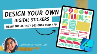 Design Your Own Digital Stickers Using the Affinity Designer iPad App