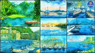 How to Paint Boat Landscapes