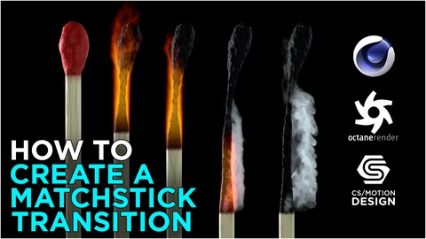 Modelling a Matchstick and burning it down in Cinema 4D