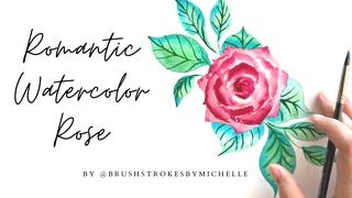 Paint a Semi-Realistic Romantic Rose