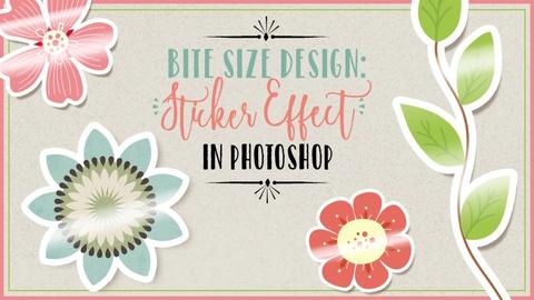 Bite Size Design: Sticker Effect in Photoshop