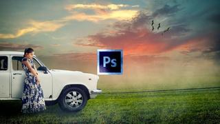 Learn Digital Art Photo Manipulation in Photoshop - Alone Girl