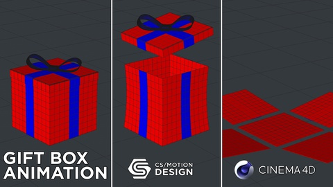 How To Model And Animate A Gift Box In Cinema 4D