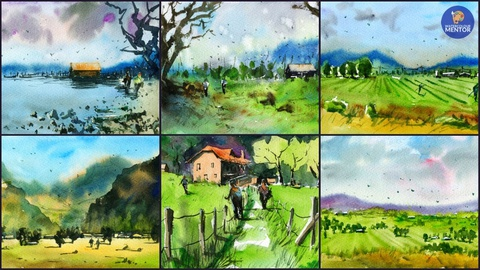 Planning Your Painting: Sketch and Paint 6 Different Watercolour Landscapes